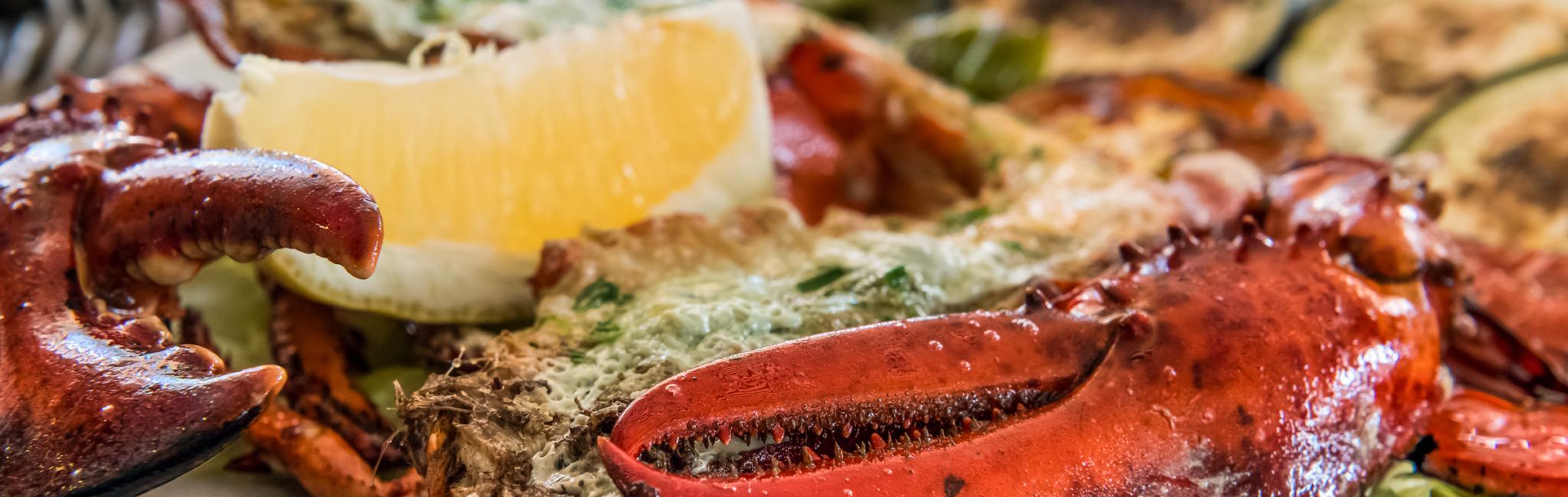 lobster dining example at the batu villa